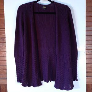 Lee Knitted Cardigan Sweater Size Small Purple